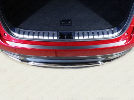 Lexus NX 200 2017-Накладка на задний бампер (лист шлифованный)